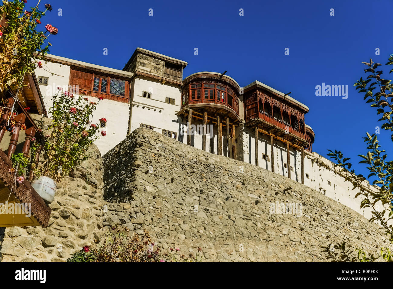Baltit fort, the UNESCO World Heritage site. Karimabad, Hunza valley. Gilgit Baltistan, Pakistan. - Stock Image