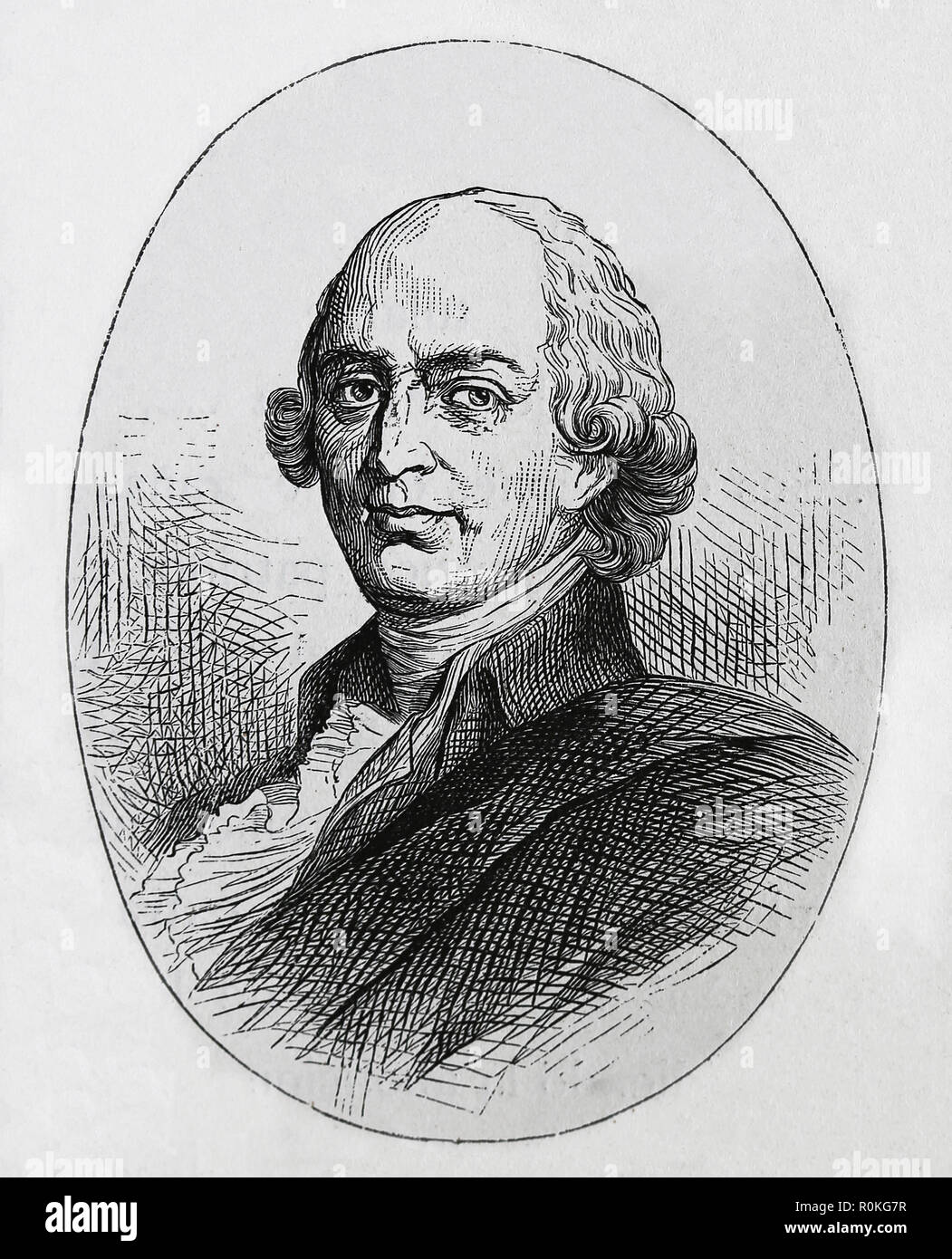 Johann Gottfried Herder (1744-1803). German Philosopher, theologian, poet and literary critic. Engraving of Germania, 1882. - Stock Image