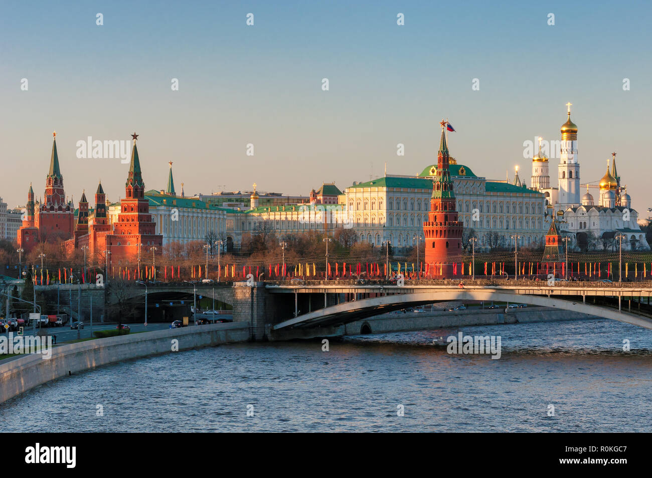 Moscow skyline, Russia - Stock Image