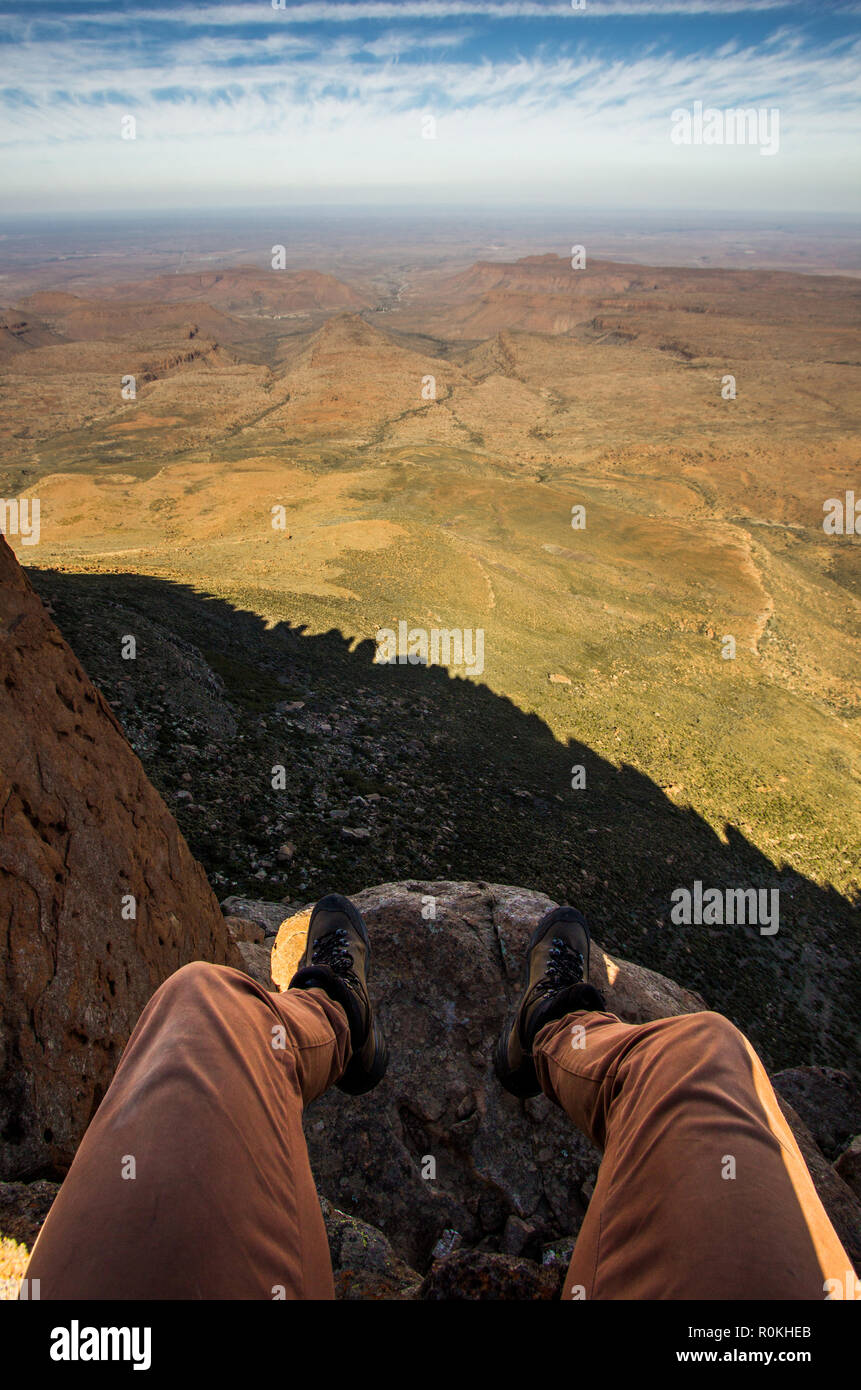 POV overlooking the Karoo National Park landscape - Stock Image