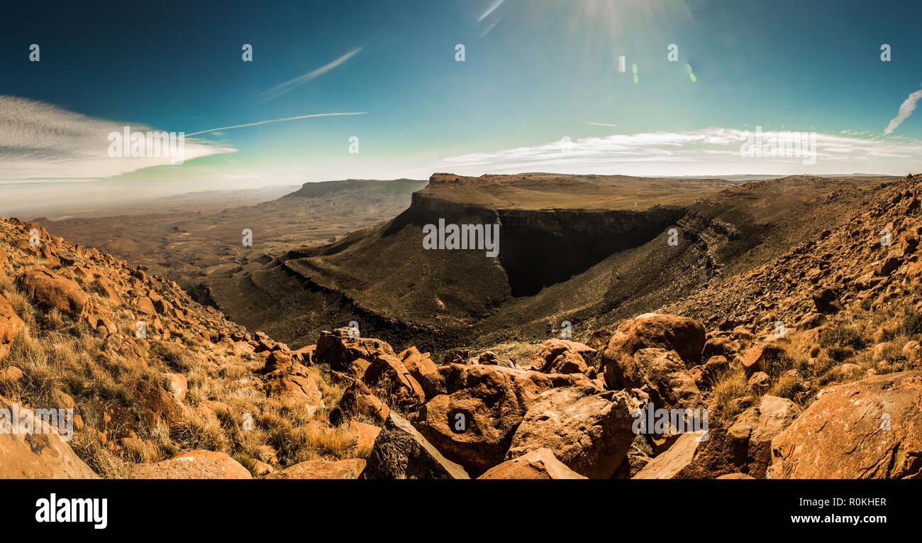 Scenic view of the Karoo National Park - Stock Image
