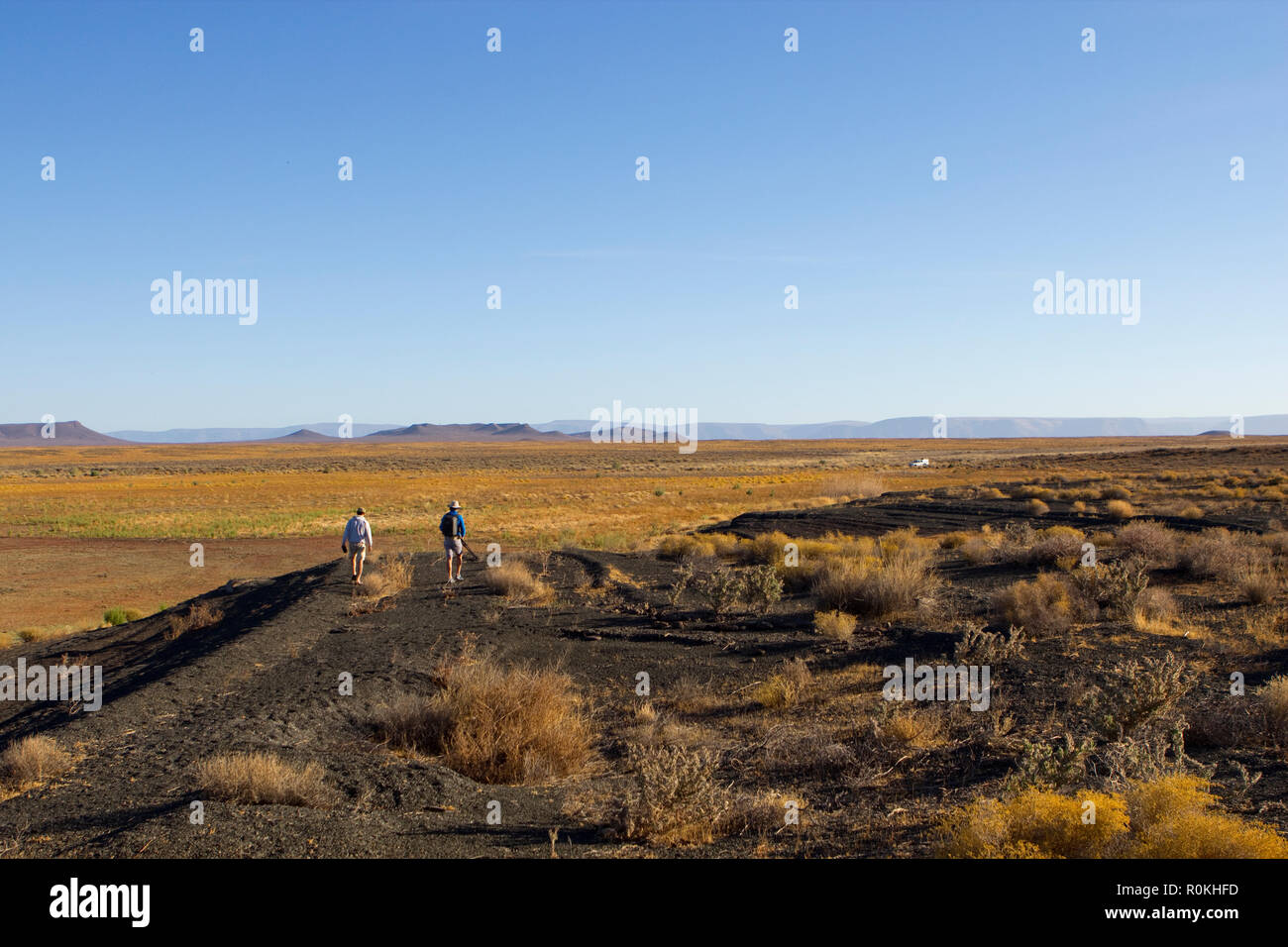 Hiking in the Tankwa Karoo National Park - Stock Image