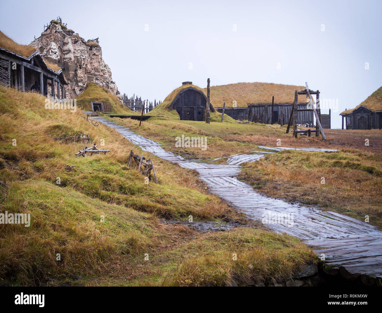 Ancient viking village in Hofn, Iceland Stock Photo