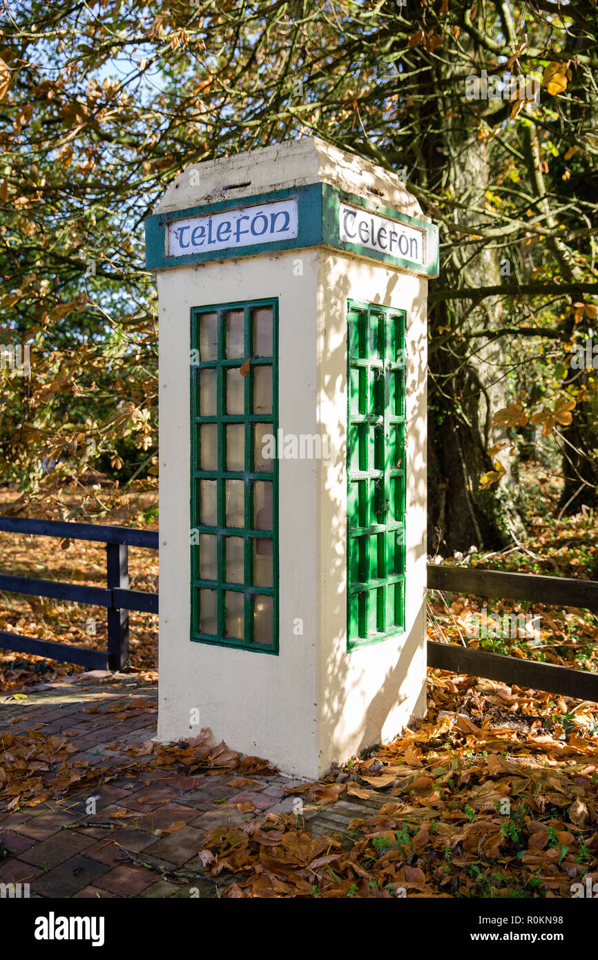 Old Irish Public Telefon (Telephone) box - Stock Image