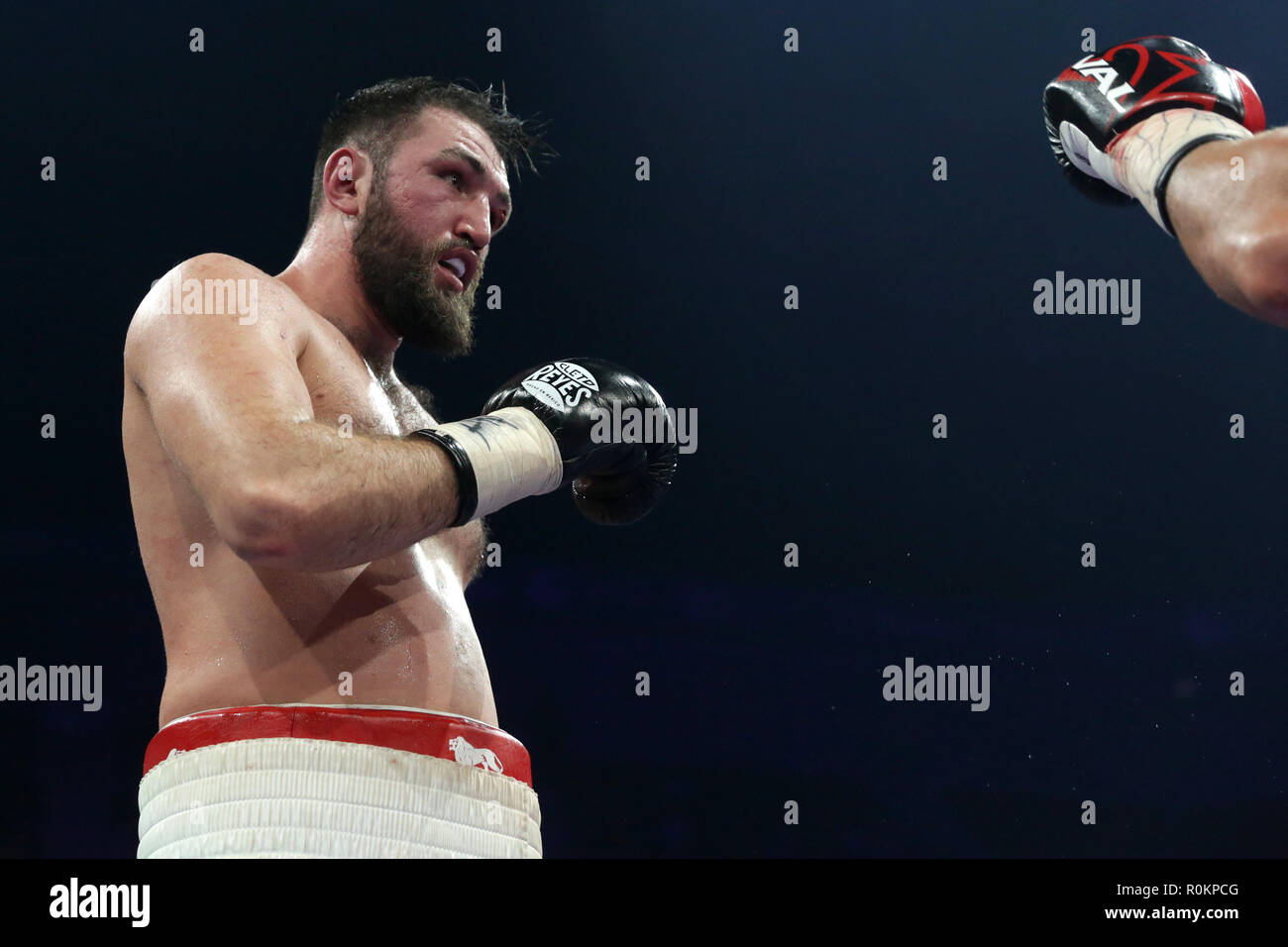 Sofia, Bulgaria - 27 October 2018: Boxing match between Kubrat 'Cobra' Pulev and Hughie Fury (pictured) for IBF Heavyweight elimination bout. - Stock Image