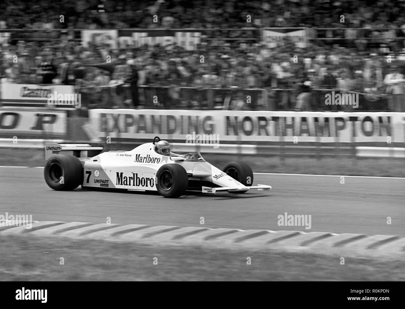 1981 McLaren MP4-1 John Watson. Winner 1981 British Grand Prix, Silverstone - Stock Image