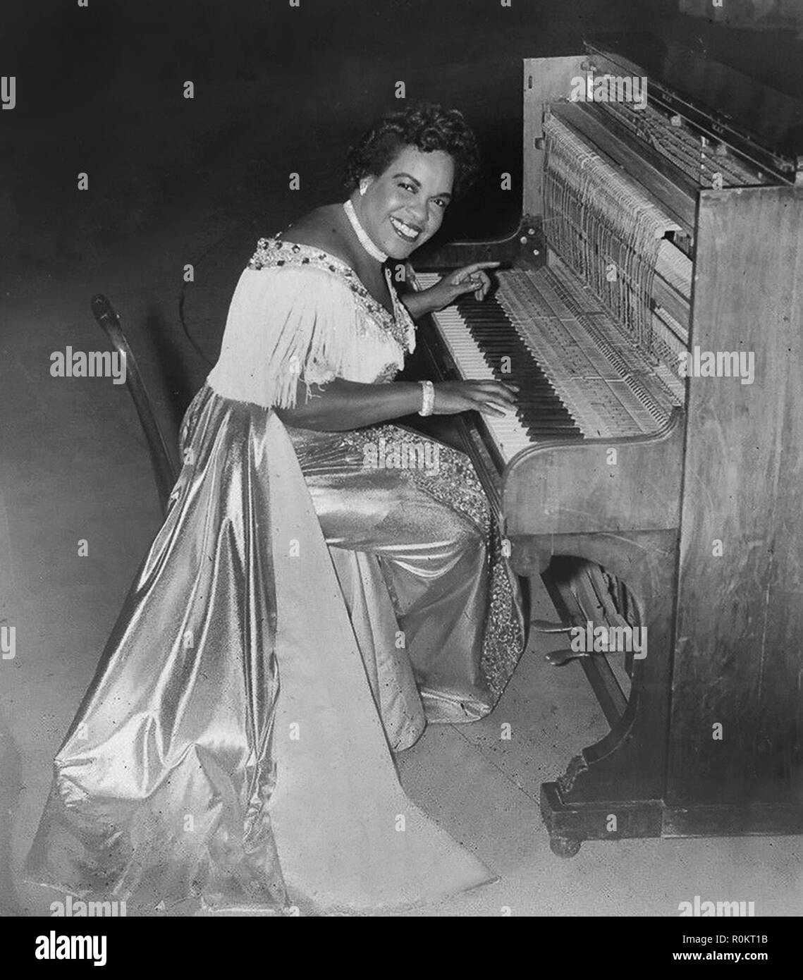 Trinidadian pianist Winifred Atwell in 1952 Stock Photo - Alamy
