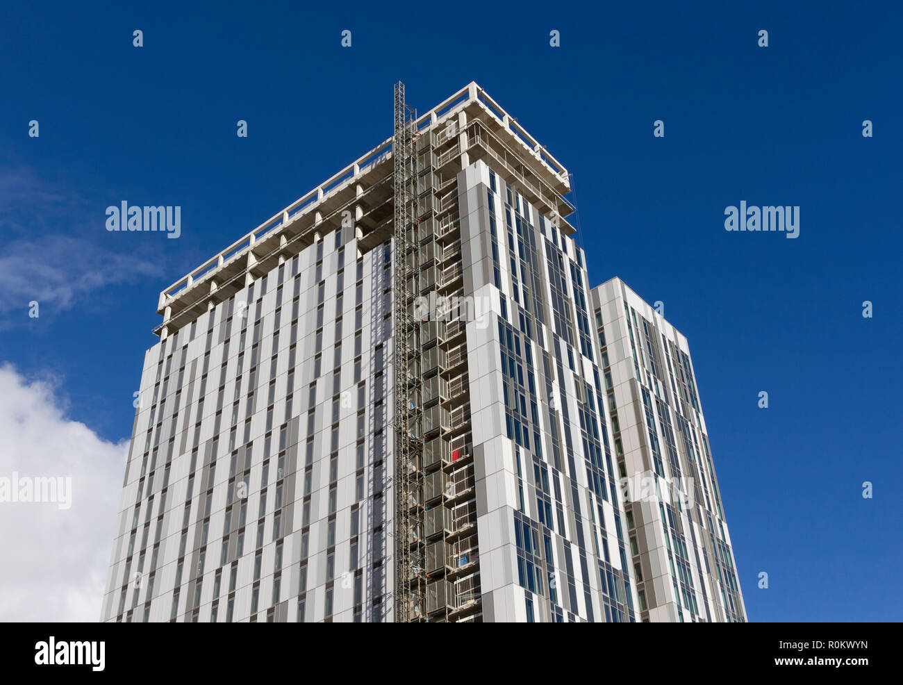 New building construction at MediaCityUK, Salford Quays, Manchester - Stock Image