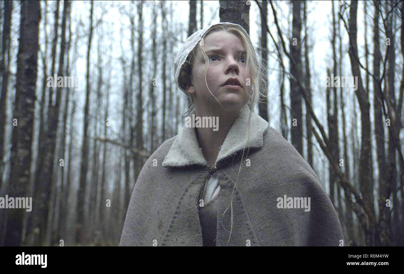 THE WITCH - A NEW ENGLAND FOLK TALE 2015 A24 film with Anya Taylor-Joy - Stock Image