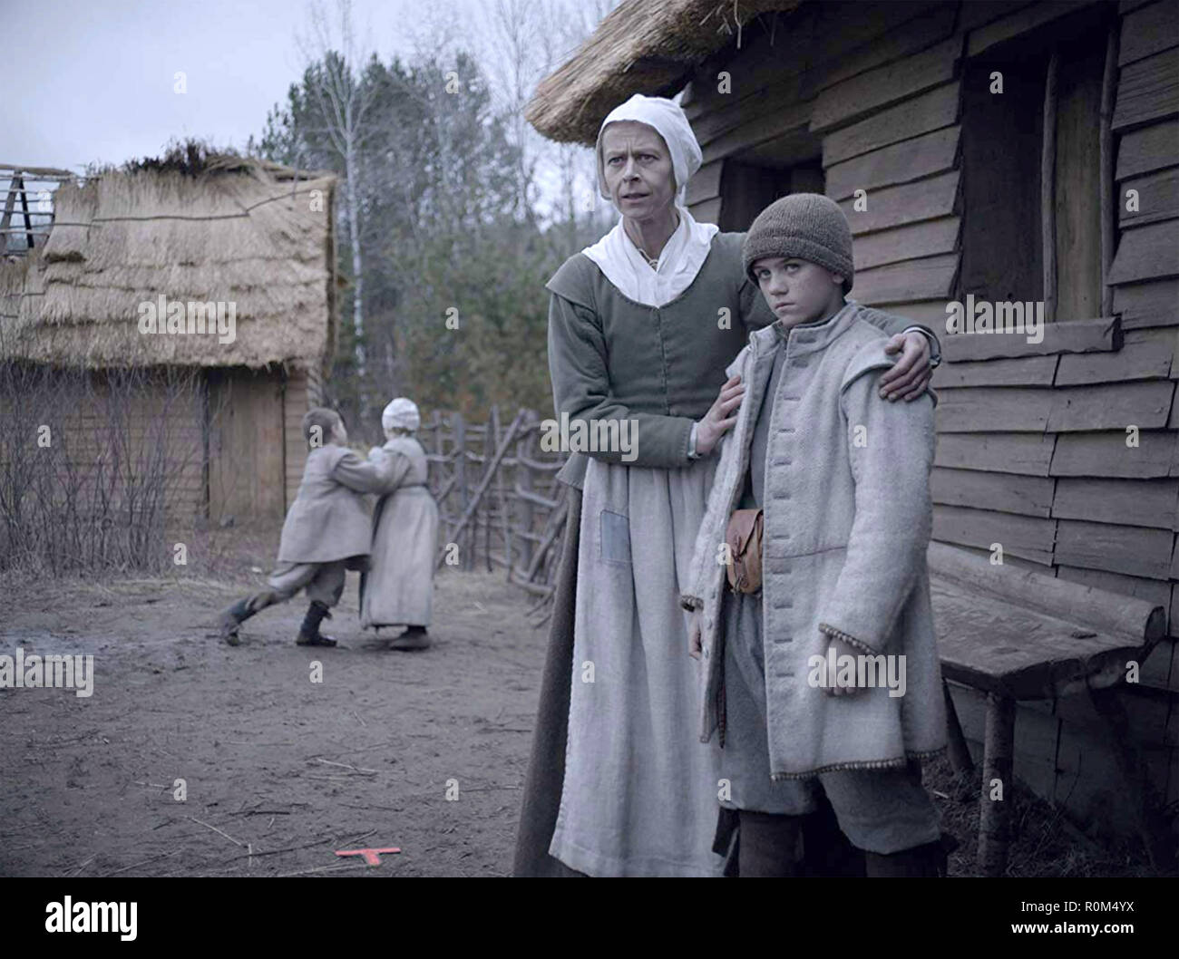 THE WITCH - A NEW ENGLAND FOLK TALE 2015 A24 film with Kate Dickie and  Harvey Scrimshaw - Stock Image