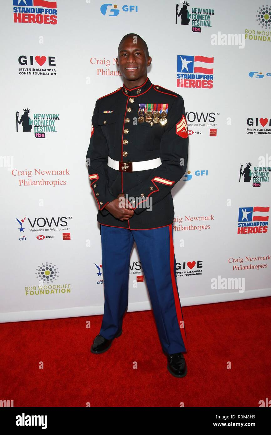 New York, NY, USA. 5th Nov, 2018. Kionte Storey at arrivals for 12th Annual Stand Up For Heroes New York Comedy Festival Kick Off, Hulu Theater at Madison Square Garden, New York, NY November 5, 2018. Credit: Jason Mendez/Everett Collection/Alamy Live News Stock Photo