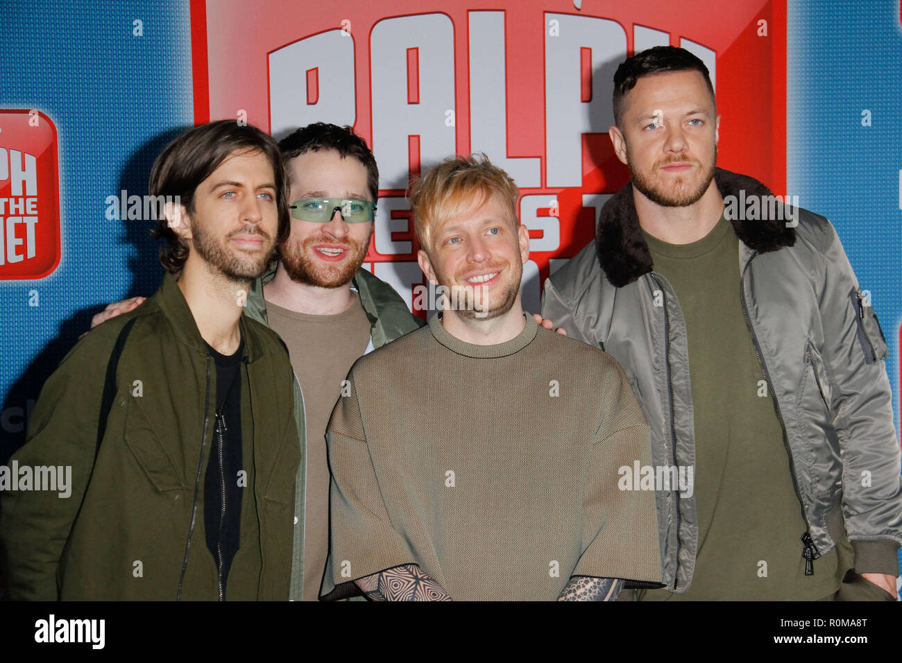 Los Angeles, USA. 5th Nov 2018. Imagine Dragons at the World Premiere of Disney's 'Ralph Breaks The Internet' held at El Capitan Theatre in Hollywood, CA, November 5, 2018. Photo by Joseph Martinez / PictureLux Credit: PictureLux / The Hollywood Archive/Alamy Live News - Stock Image