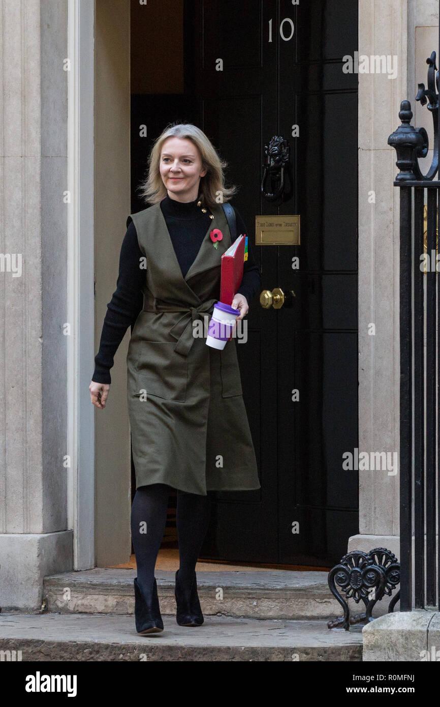 London Uk 6th November 2018 Elizabeth Truss Mp Chief Secretary