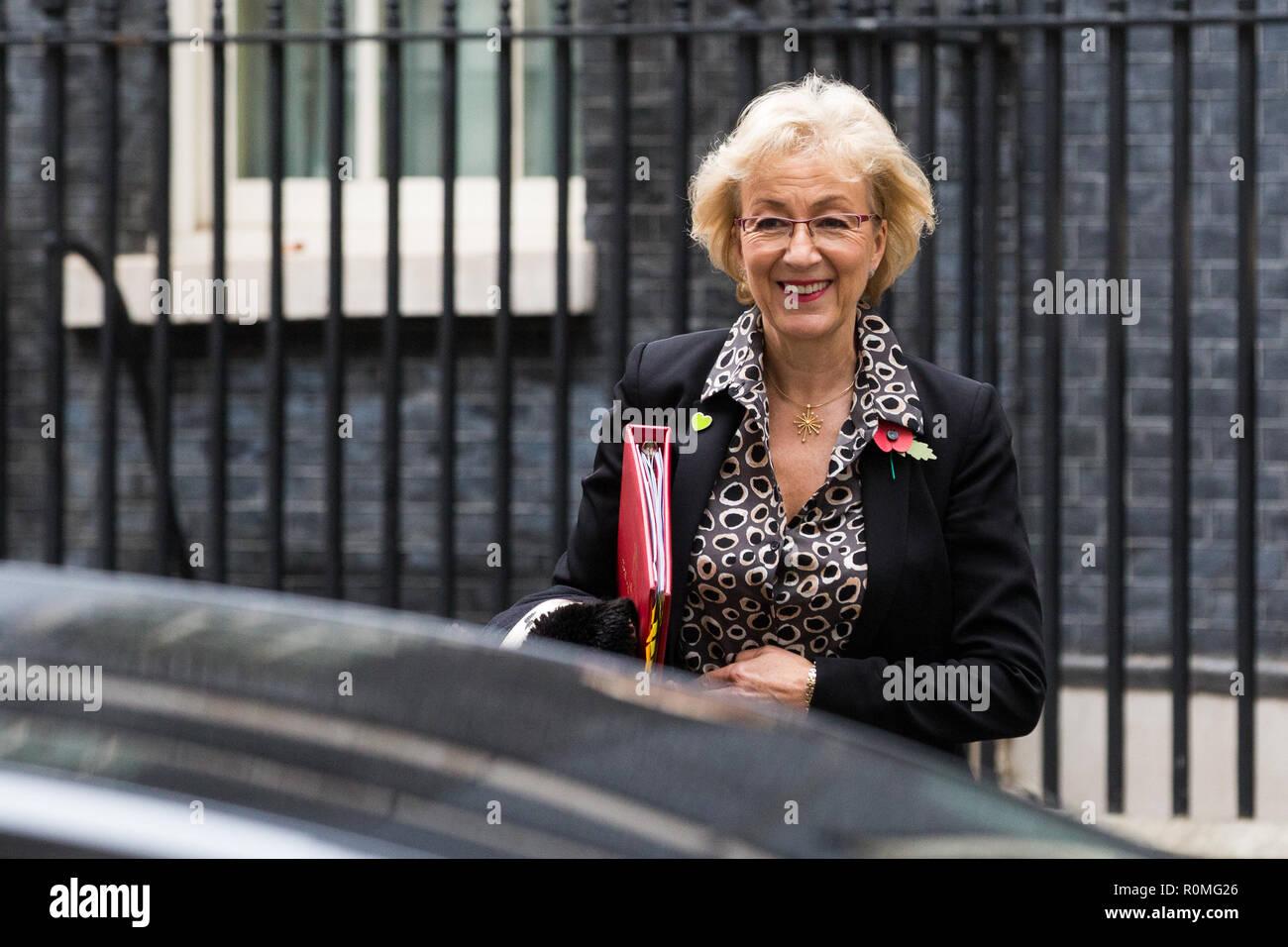 London Uk 6th November 2018 Andrea Leadsom Mp Lord President Of