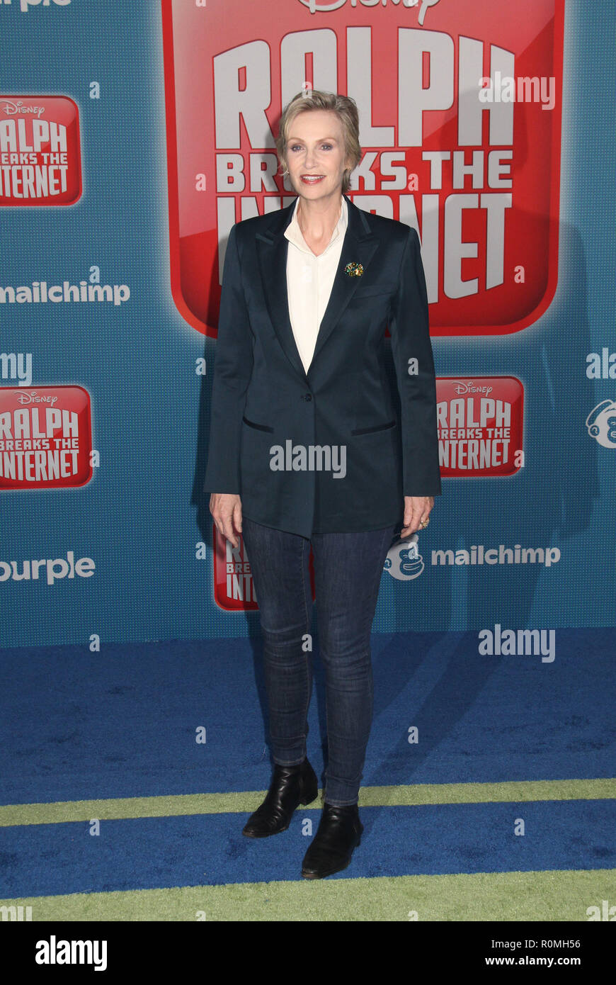 Los Angeles, USA. 5th Nov 2018. Jane Lynch  11/05/2018 The World Premiere of 'Ralph Breaks the Internet' held at El Capitan Theatre in Los Angeles, CA Photo by Hiro Katoh / HNW / PictureLux Credit: PictureLux / The Hollywood Archive/Alamy Live News - Stock Image