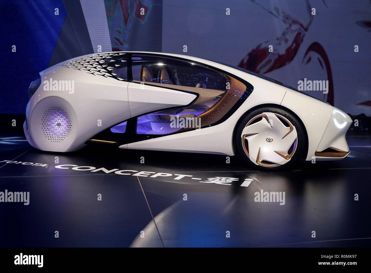 Sao Paulo, Brazil. 06th Nov, 2018. A view of a Toyota 'Concept-i' during the International Automobile Hall of Sao Paulo, Brazil, 06 November 2018. The event goes from next Thursday to the 18th November. Credit: Sebastiao Moreira/EFE/Alamy Live News - Stock Image