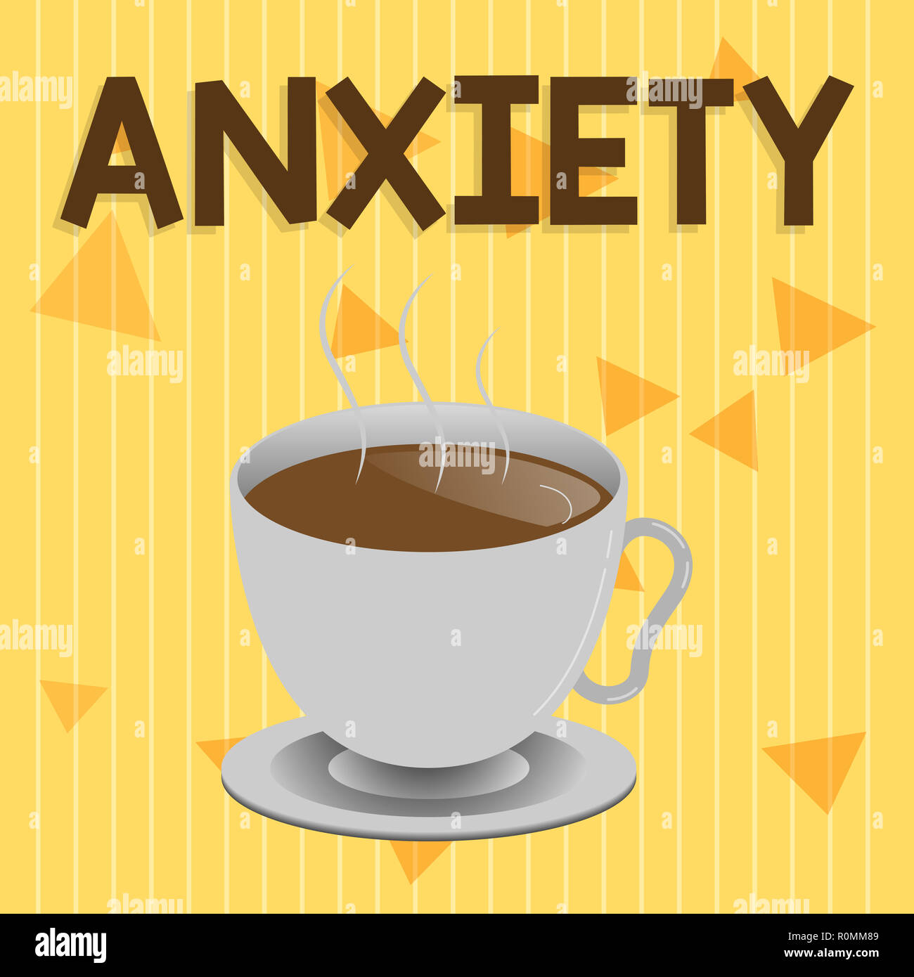 Handwriting text Anxiety. Concept meaning Excessive uneasiness and apprehension Panic attack syndrome. - Stock Image