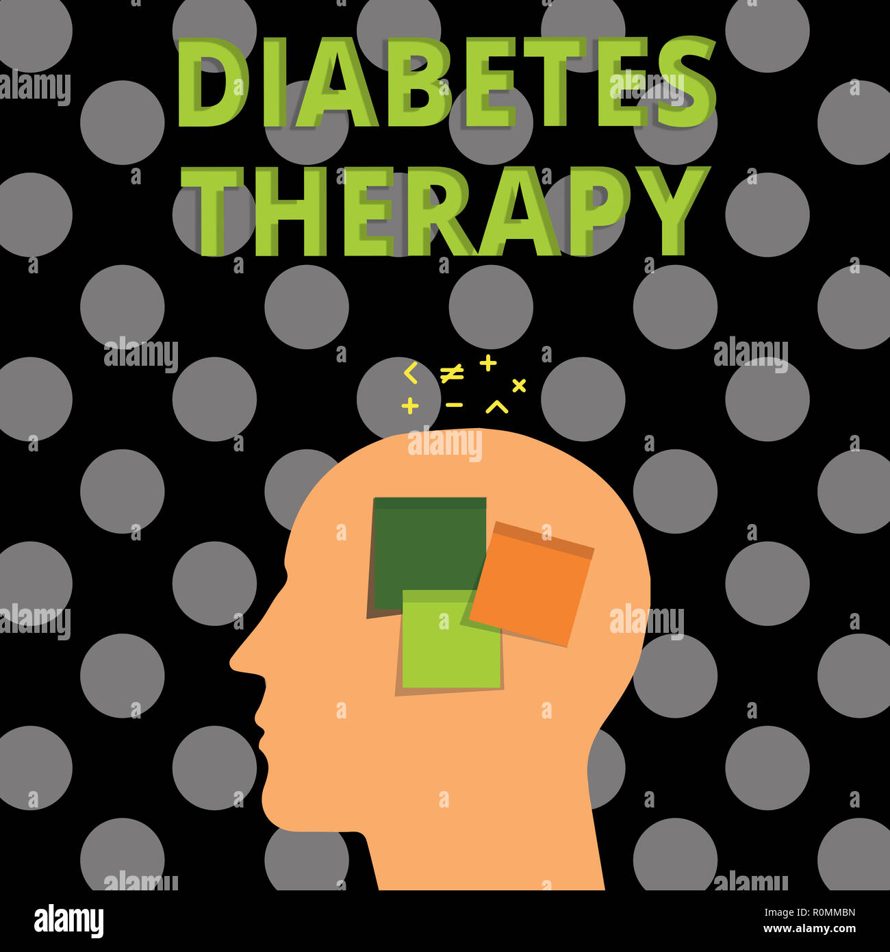 Handwriting text Diabetes Therapy  Concept meaning Set the