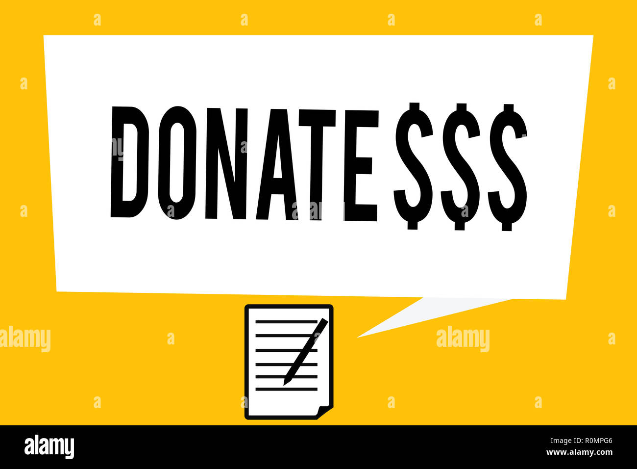 Handwriting text writing Donate   Concept meaning