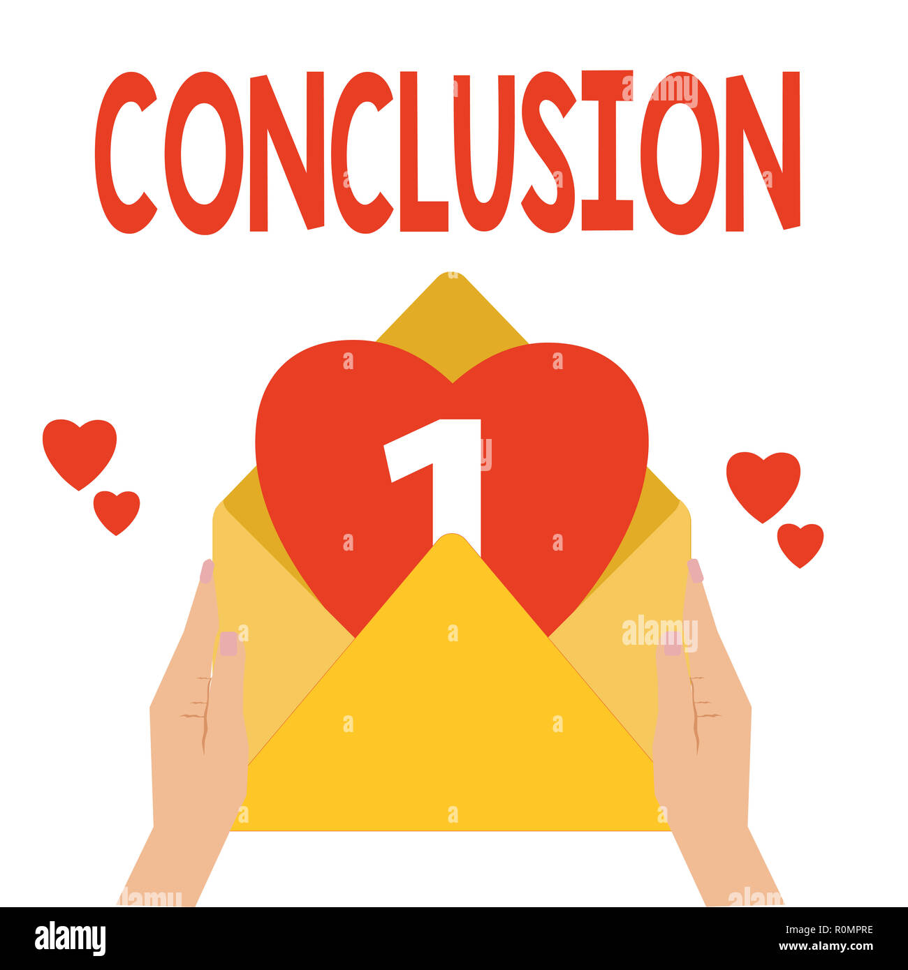 Word writing text Conclusion. Business concept for Results analysis Final decision End of an event or process. - Stock Image