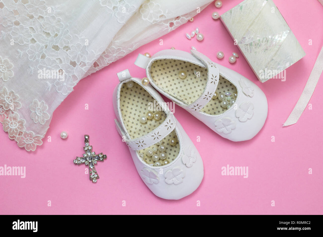 64b44403a7b Baptism Shoes Stock Photos   Baptism Shoes Stock Images - Alamy