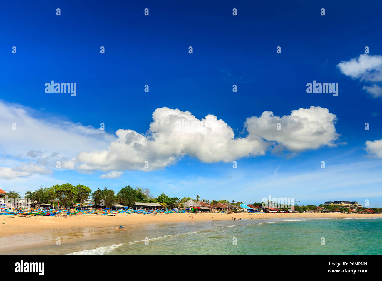 Tropical Beach In Bali Jimbaran Beach Bali Indonesia Stock Photo