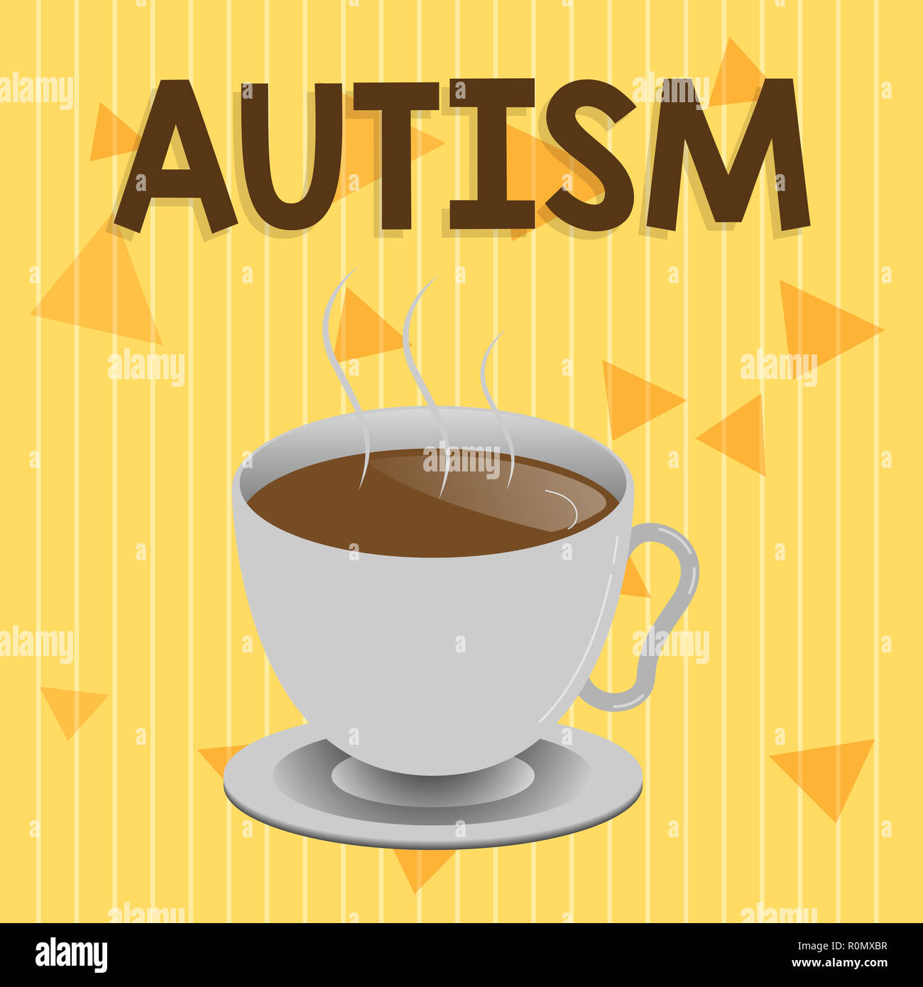 Handwriting text Autism. Concept meaning Difficulty in interacting and forming affairs with other showing. - Stock Image