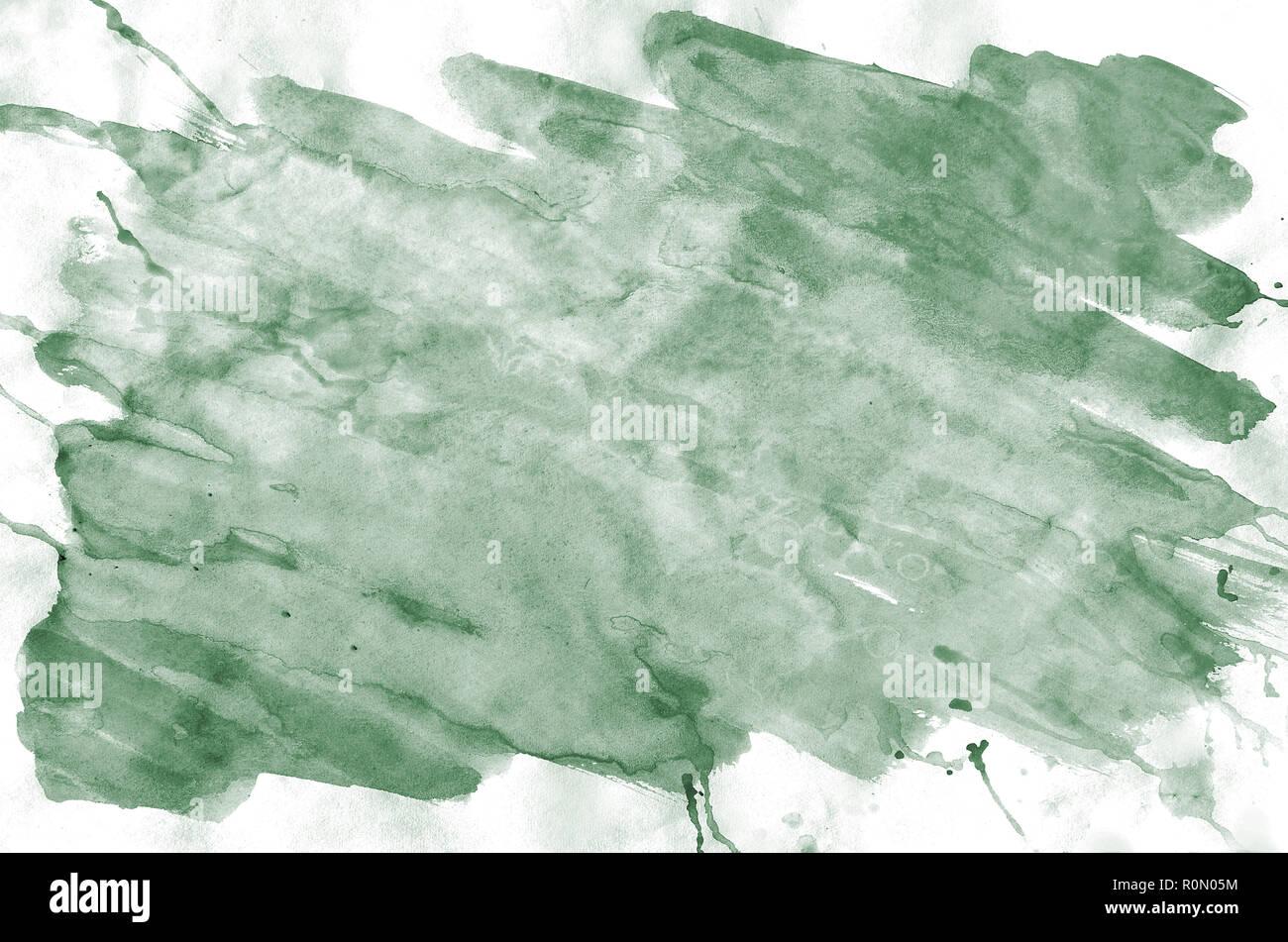 Colorful Dark Green Watercolor Background For Wallpaper Aquarelle