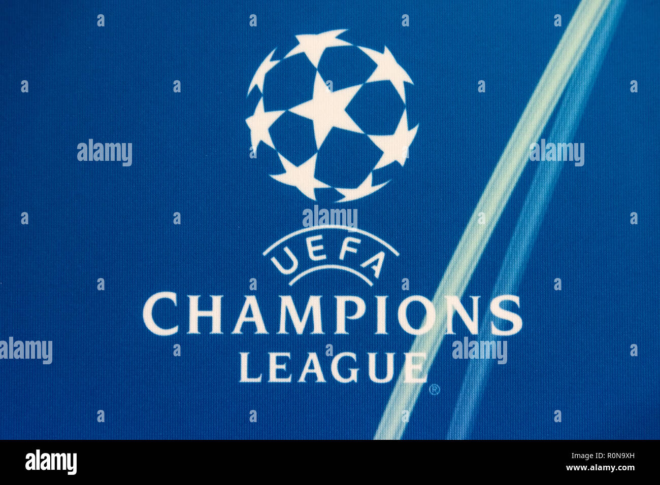 champions league logo high resolution stock photography and images alamy https www alamy com thessaloniki greece august 28 2018 official uefa champions league logo image224203577 html