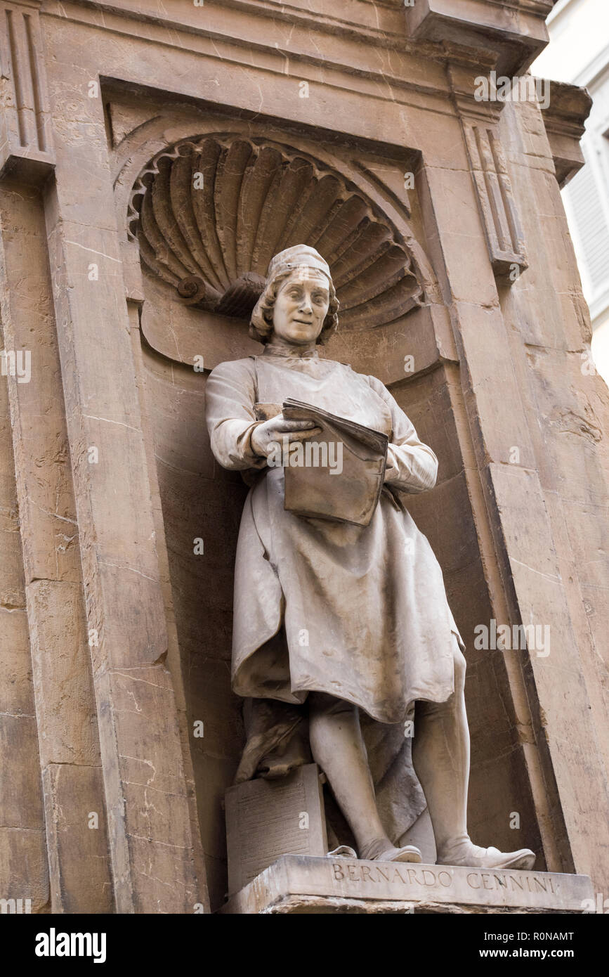 Statue on the Loggia del Mercato Nuovo in Florence, Italy Europe - Stock Image