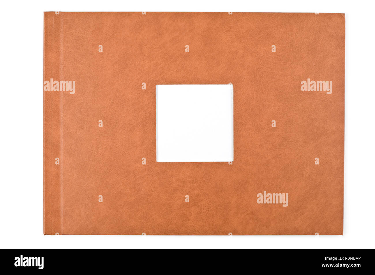 Photo album cover with empty space for your own photo. - Stock Image