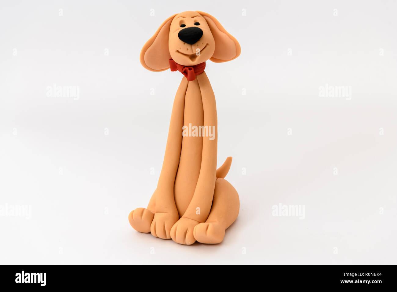 Cute homemade sugar dog cartoon character Stock Photo