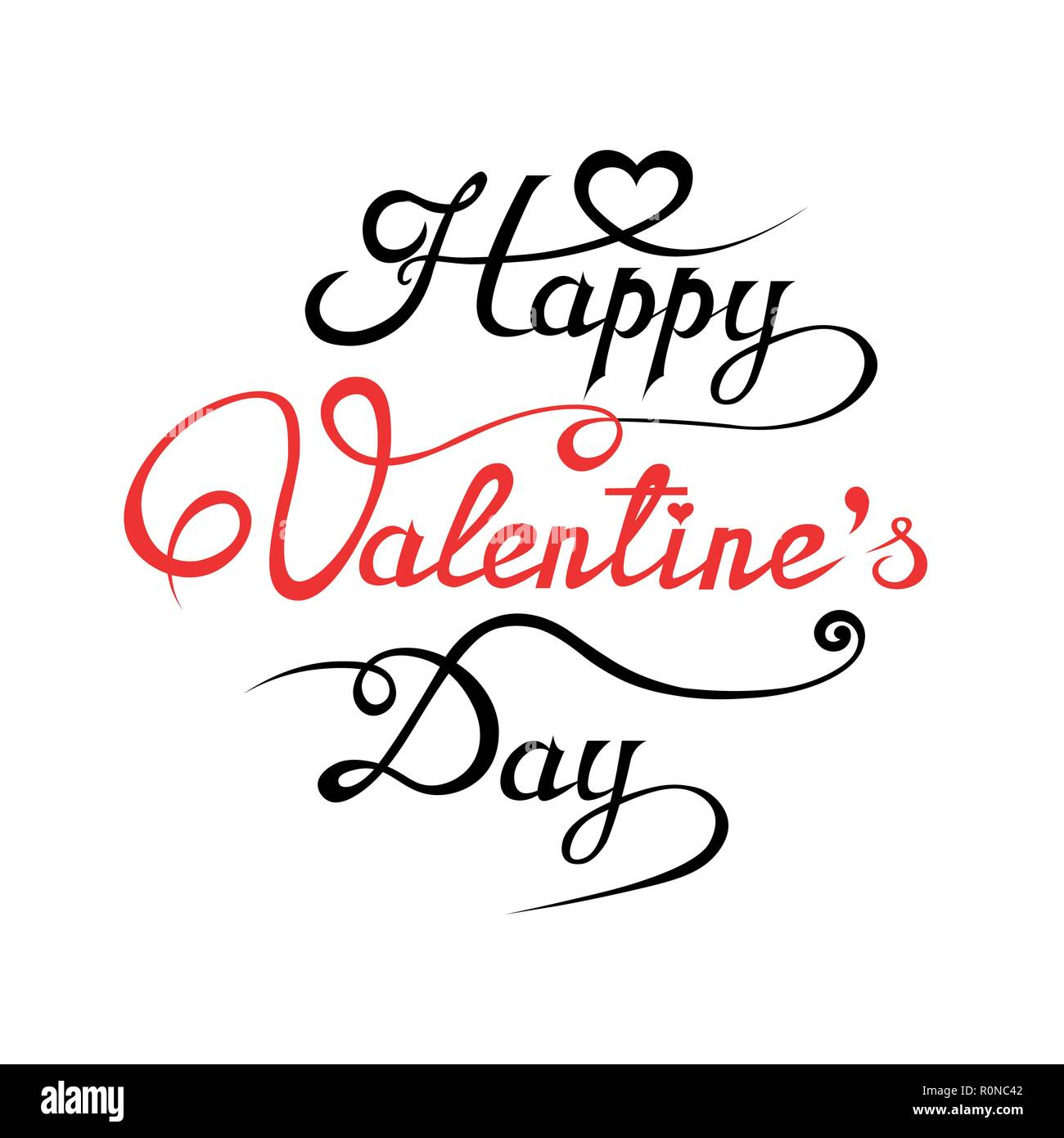 Happy Valentine S Day Hand Drawing Background With Hearts Stock Vector Image Art Alamy