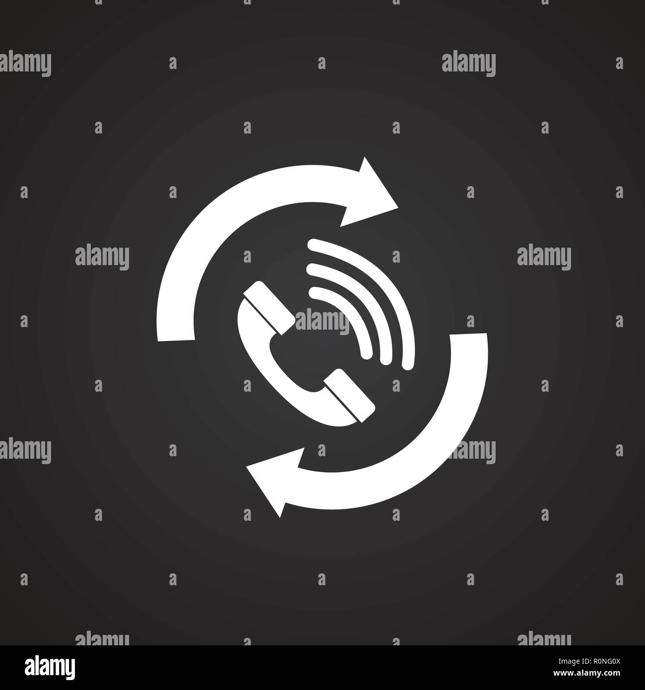 Answer back to customer on black background - Stock Vector
