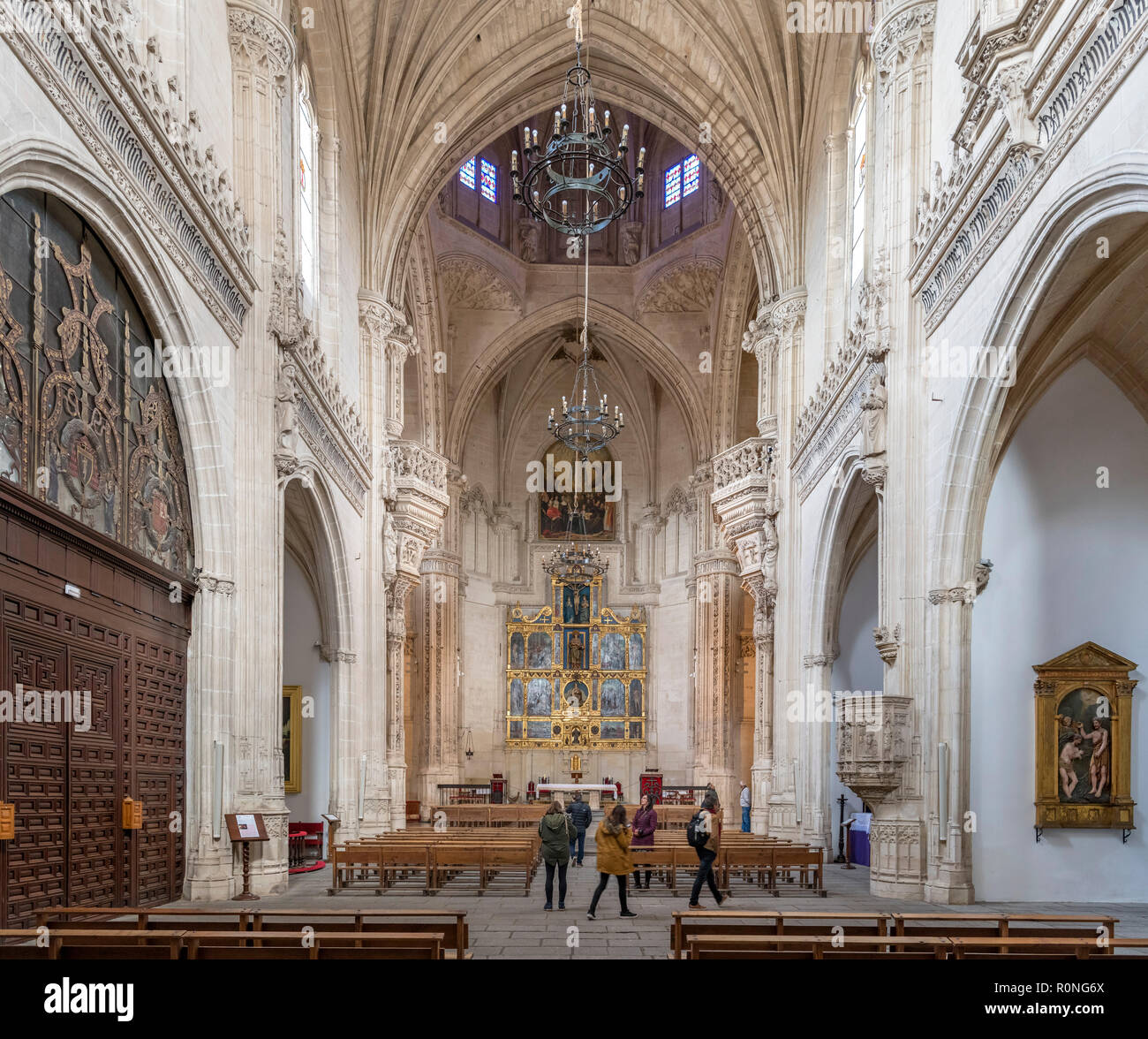 Church in the Monastery of San Juan de los Reyes, Toledo, Castilla-La Mancha, Spain - Stock Image