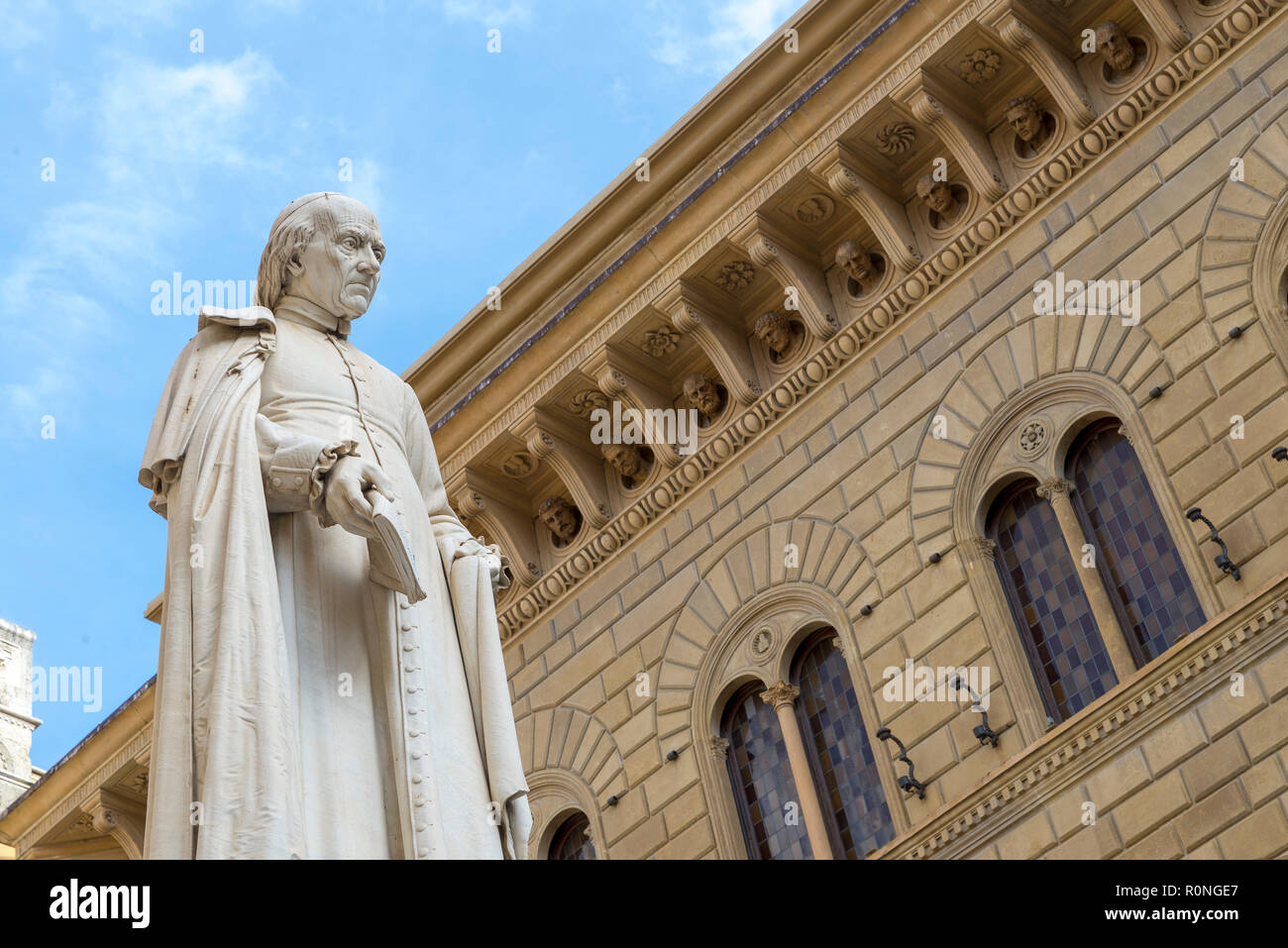 SIENA, ITALY - OCTOBER 27, 2018: statue of Sallustio Bandini. He was an advocate of free trade, and removal of local feudal tariffs and tolls. - Stock Image