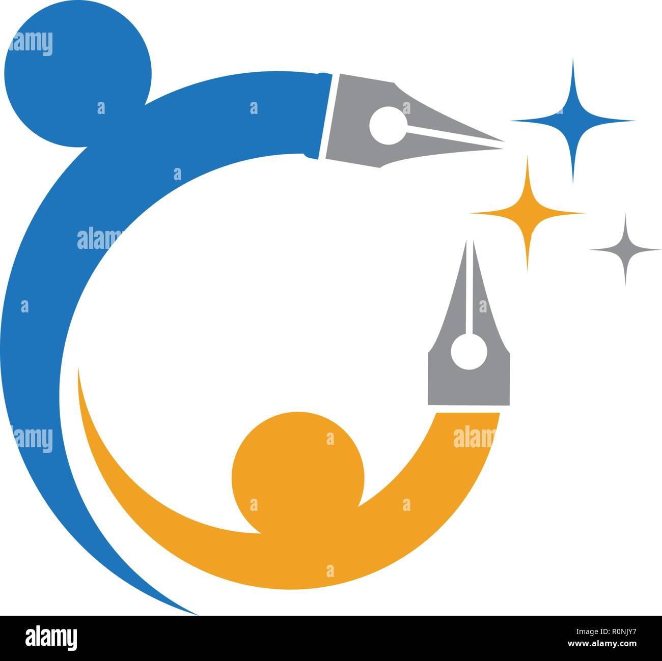 Education Logo Template vector icon design - Stock Image
