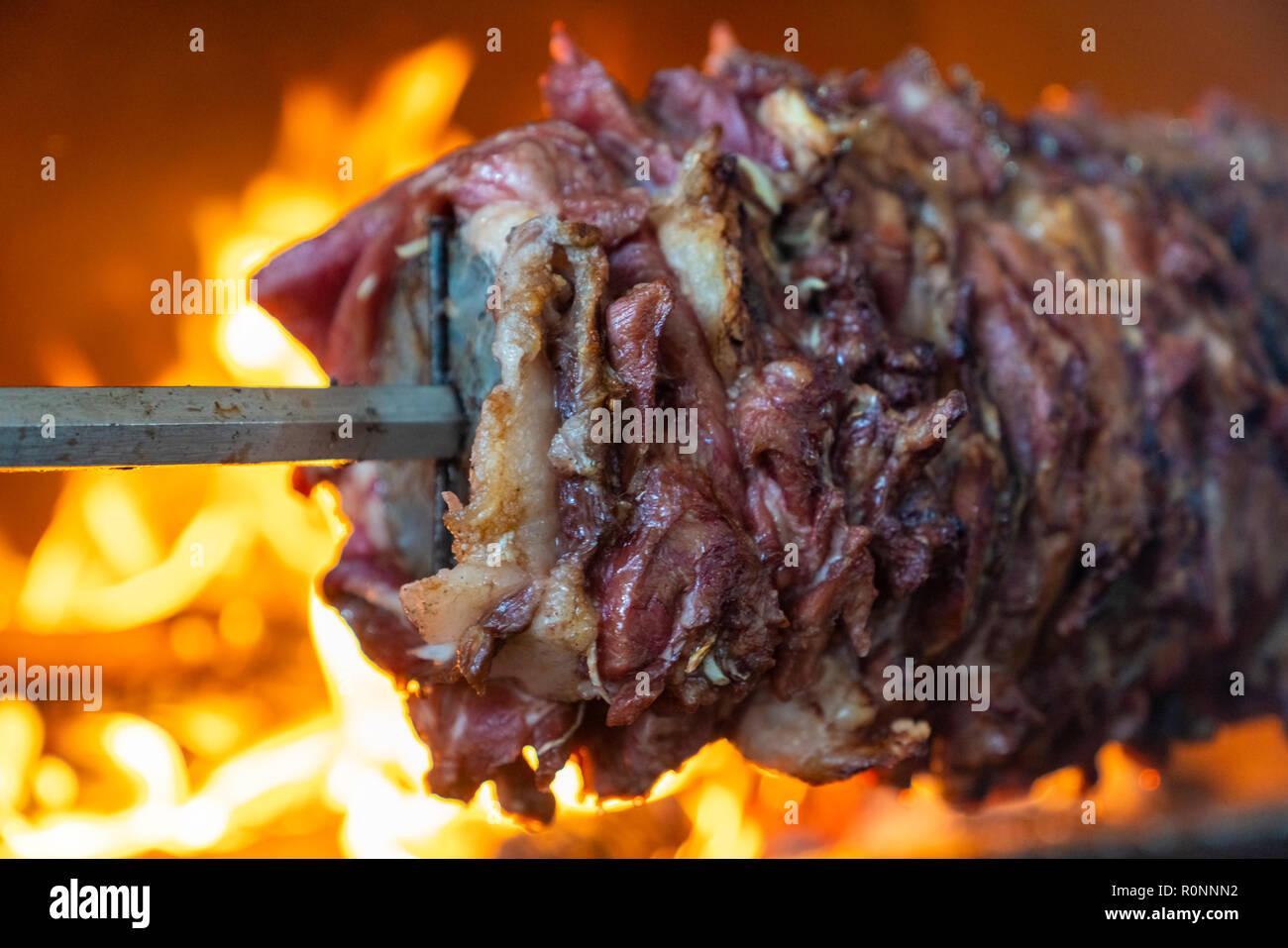 https www alamy com traditional turkish food turkish kebap doner cag kebap erzurum turkey image224212830 html