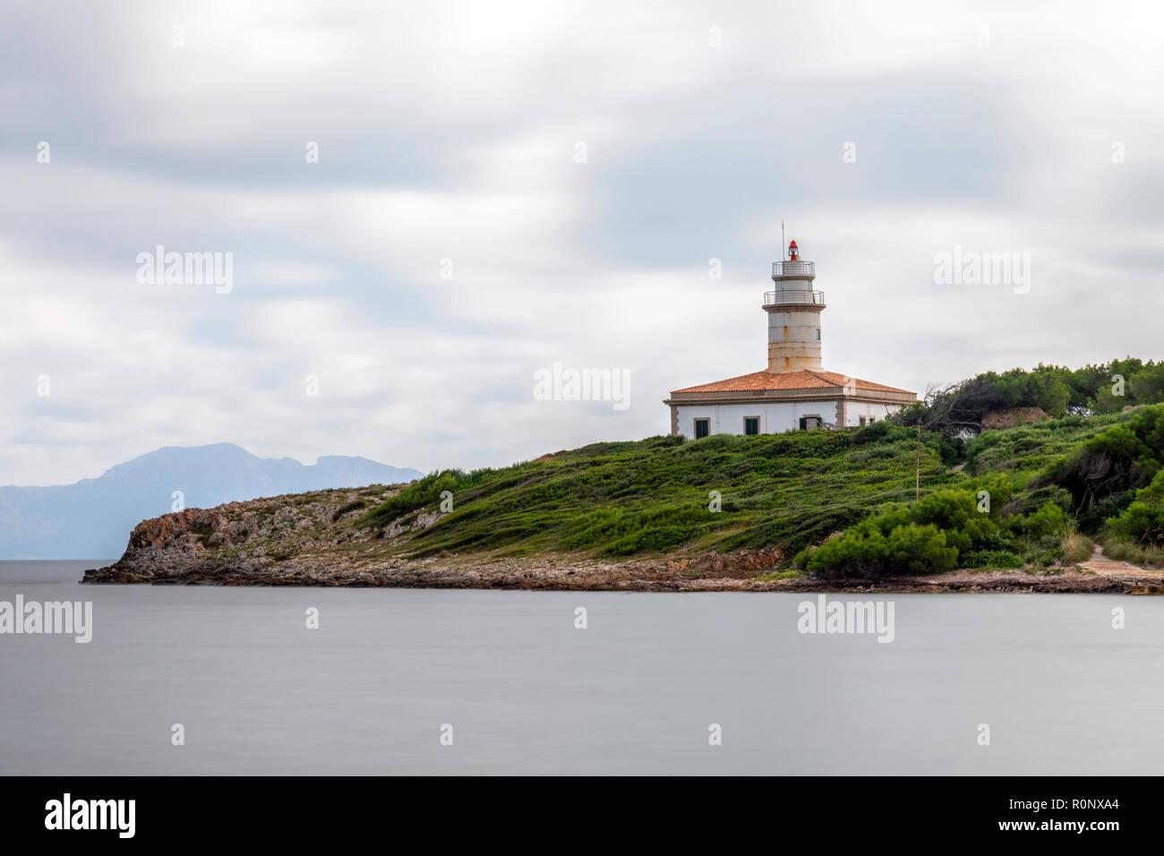 Far d'Alcanada, Mallorca, Balearic Islands, Spain, Europe - Stock Image