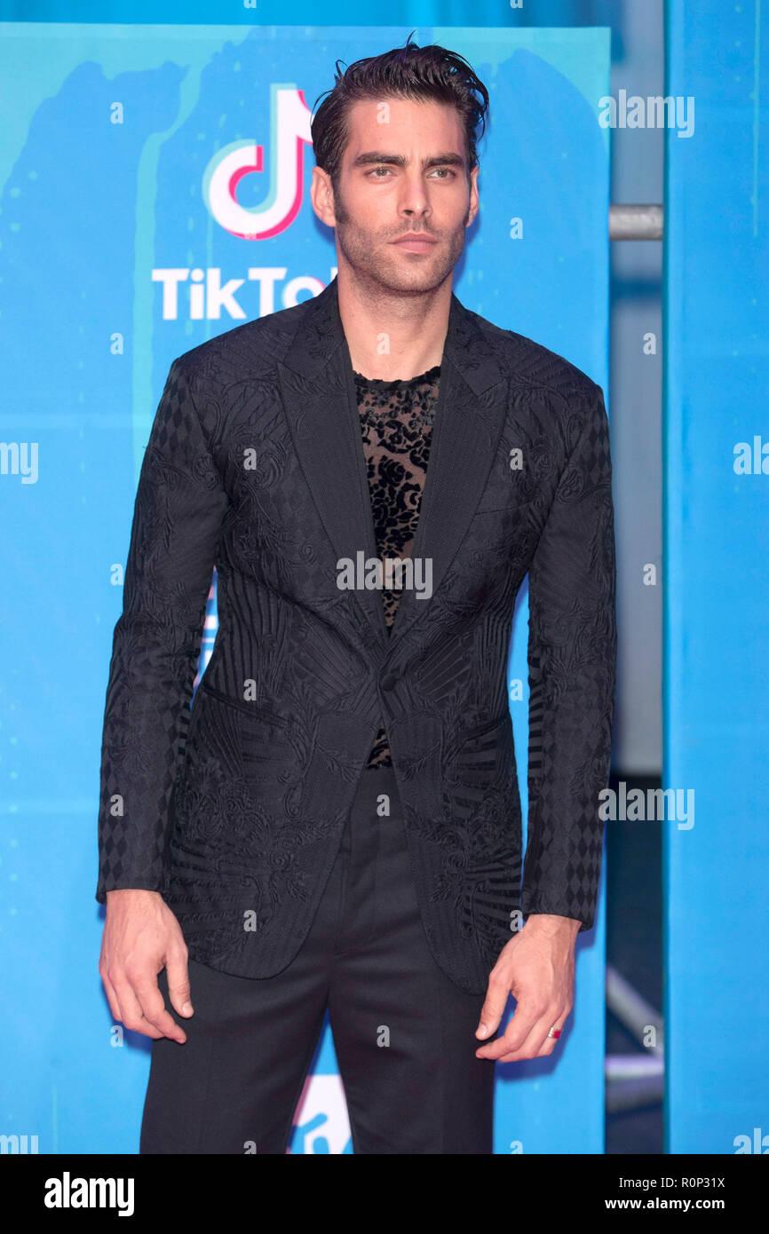 Jon Kortajarena Attending The Mtv European Music Awards 2018 At