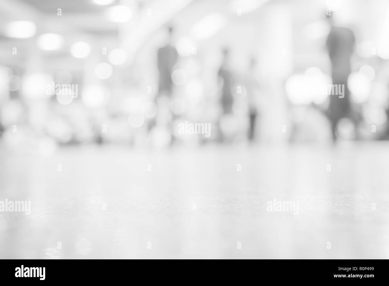 Abstract blurred path way with Blurring people with Blurry Walk Based on Building Technology Success - Stock Image
