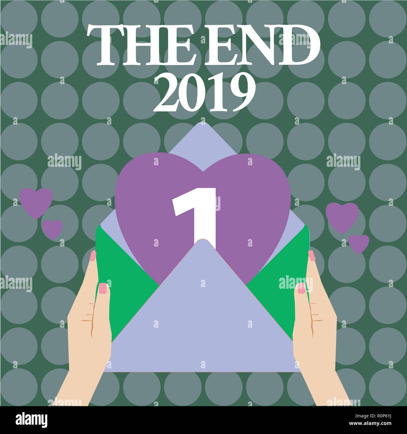 word writing text the end 2019 business concept for happy new year