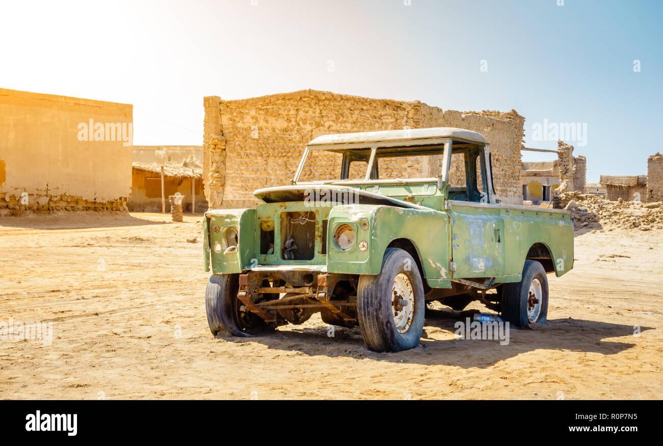 Ghost town of Al Jazirat Al Hamra in Ras Al Khaimah, UAE - Stock Image