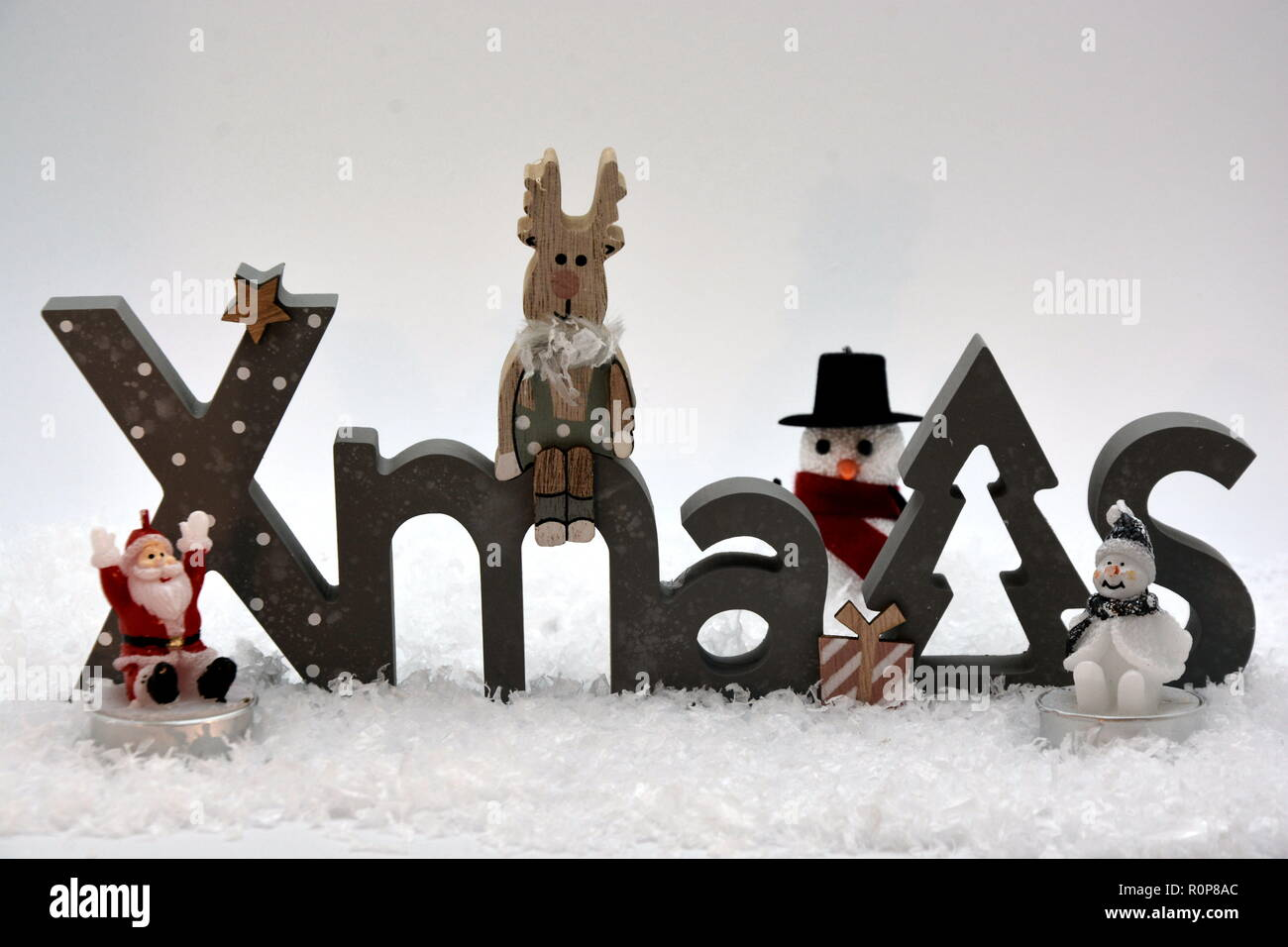 Weihnachten Schnee Schneemann Advent Stock Photo