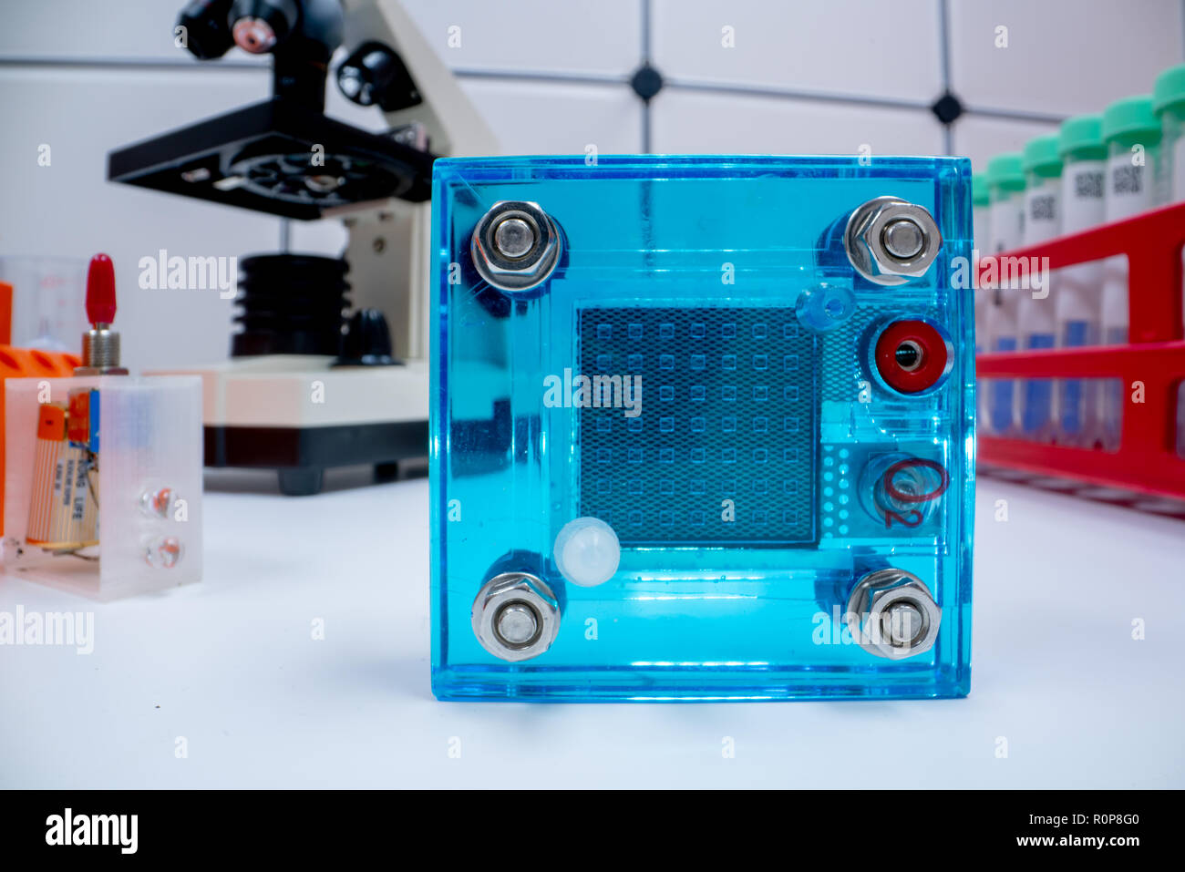 Hydrogen fuel cell in lab  Experimentation in the laboratory