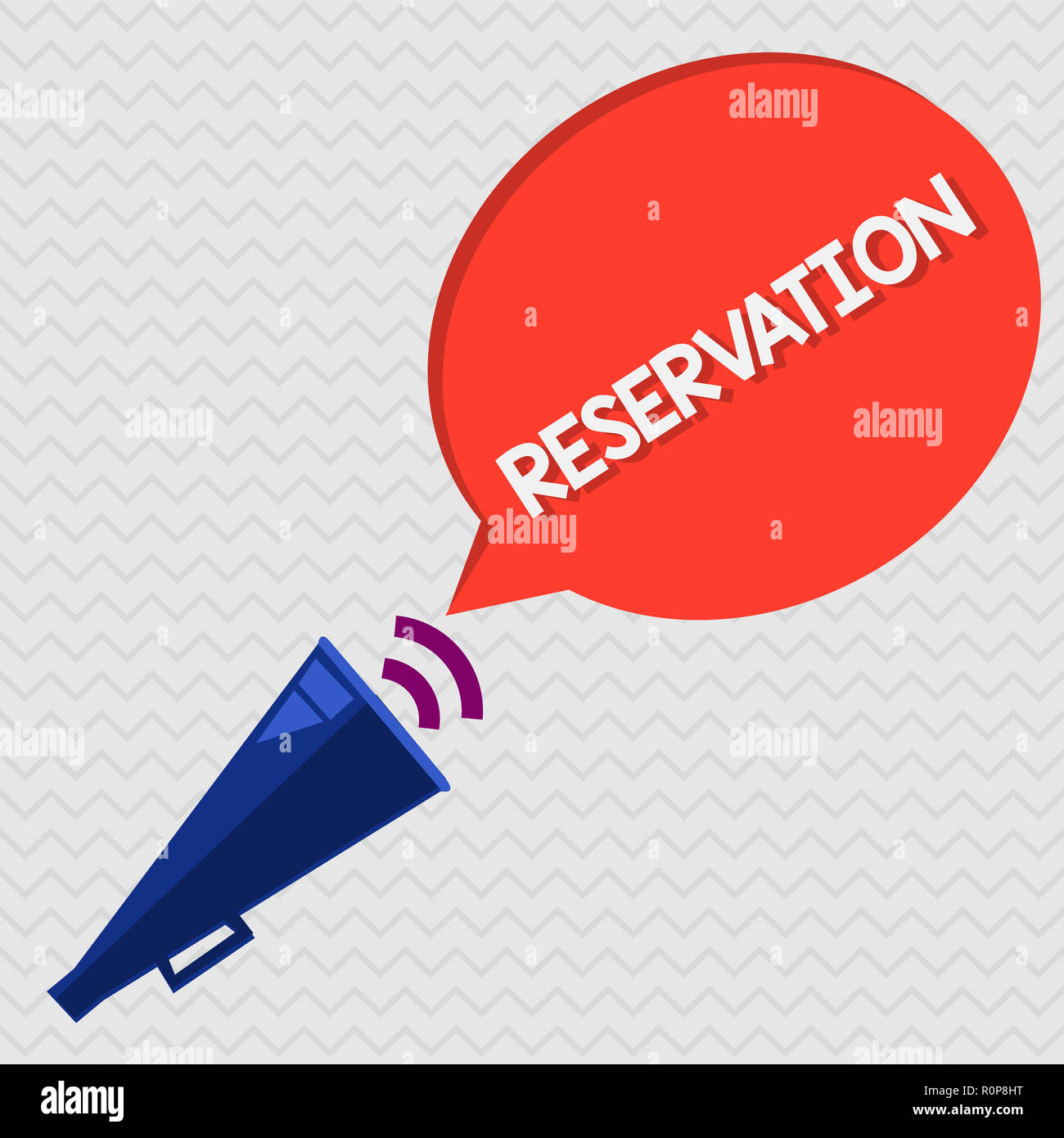 Conceptual hand writing showing Reservation. Business photo showcasing Arrangement made so a seat somewhere is kept for someone. - Stock Image