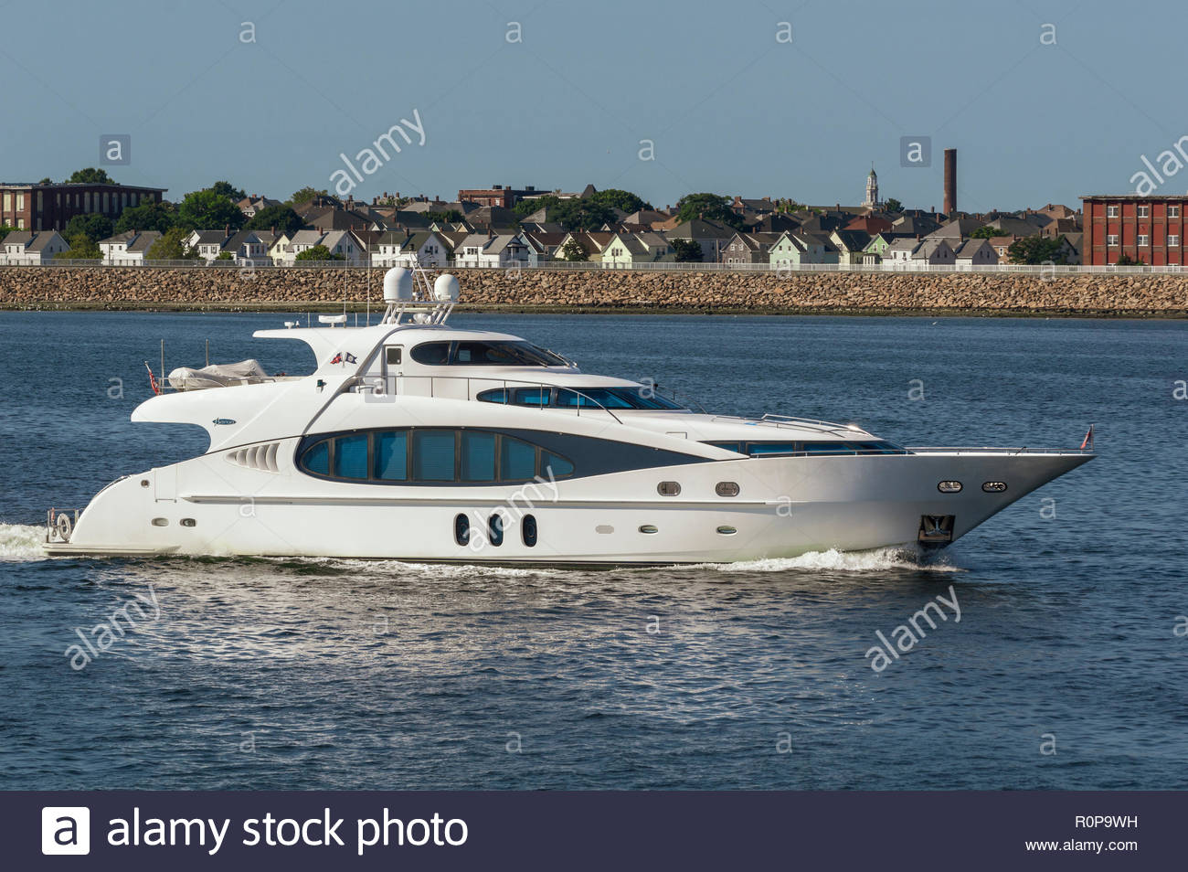 295088af Fairhaven, Massachusetts, USA - September 5, 2018: Sleek German-built yacht