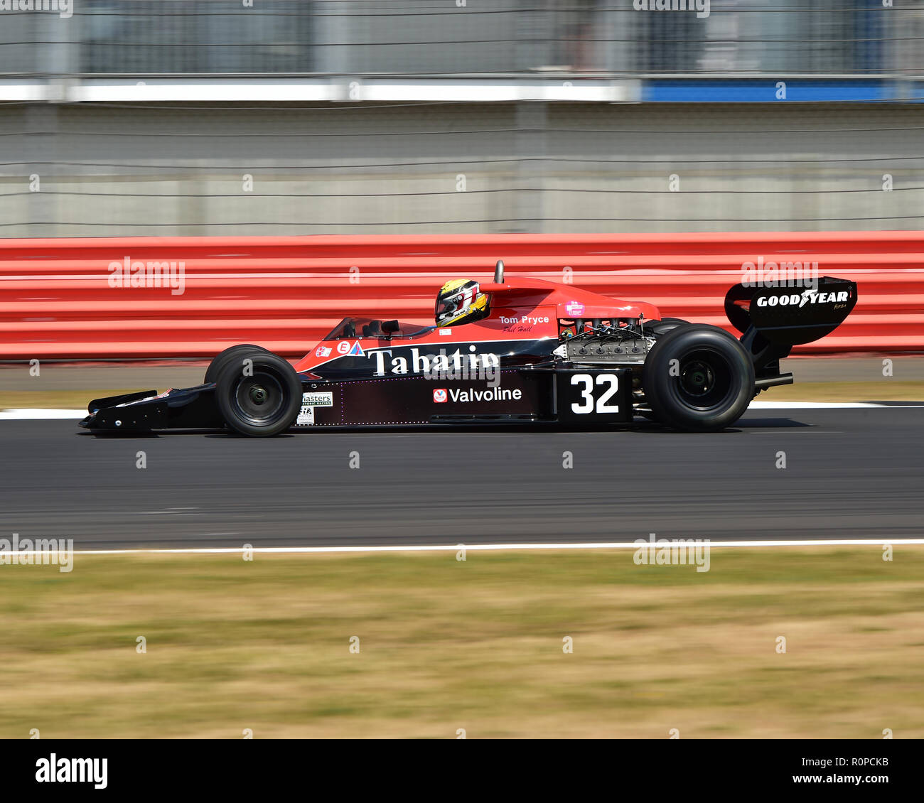 Philip Hall, Shadow DN5, FIA Masters, Historic Formula One, F1, Formula 1, Silverstone Classic, July 2018, Silverstone, Chris McEvoy, circuit racing,  - Stock Image