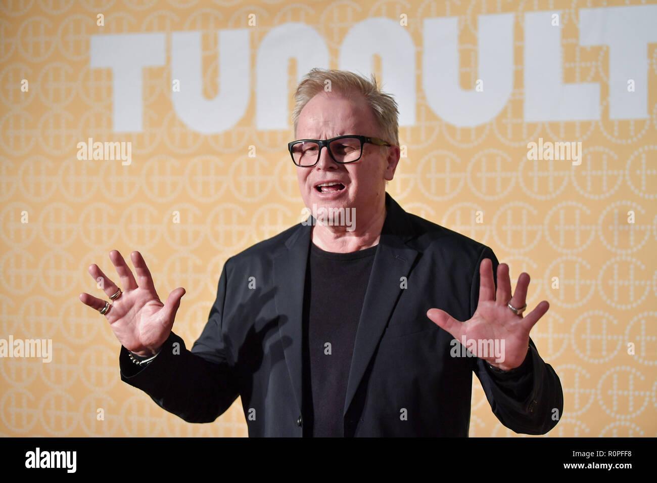 Berlin, Germany. 06th Nov, 2018. The singer Herbert Grönemeyer presents his new album 'Tumult' at the Hotel Das Stue. Credit: Jens Kalaene/dpa-Zentralbild/dpa/Alamy Live News - Stock Image