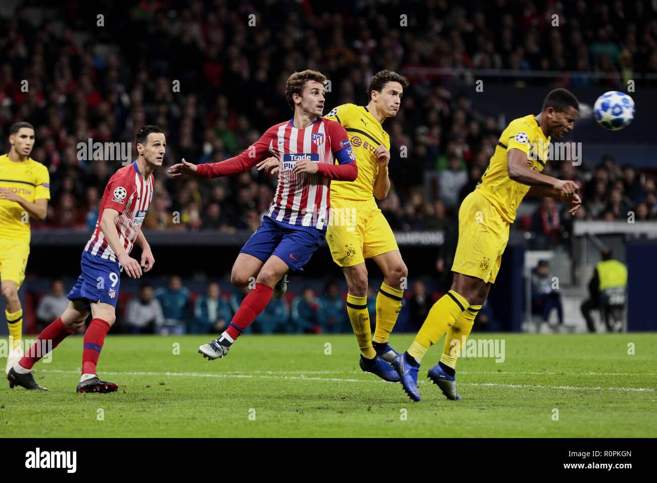 Madrid, Madrid, Spain  6th Nov, 2018  Atletico de Madrid's Antoine